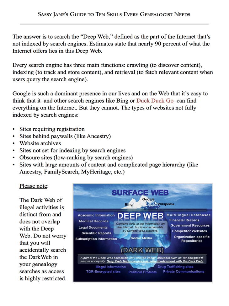 Deep Web Indexing