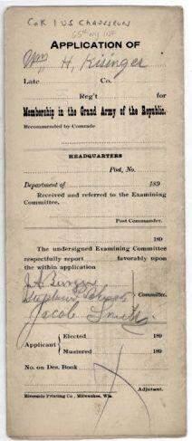 Civil War Veterans G.A.R. Records