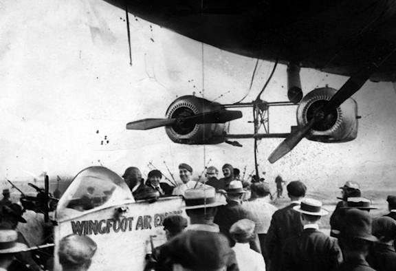 1919 Chicago Dirigible Crash Wingfoot Express