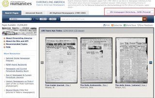 Searching the U.S. Newspaper Directory