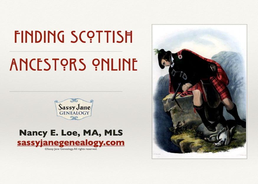 genealogy presentation finding scottish ancestors online sassy jane loe
