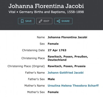 Correcting Places in Ancestry German Databases example