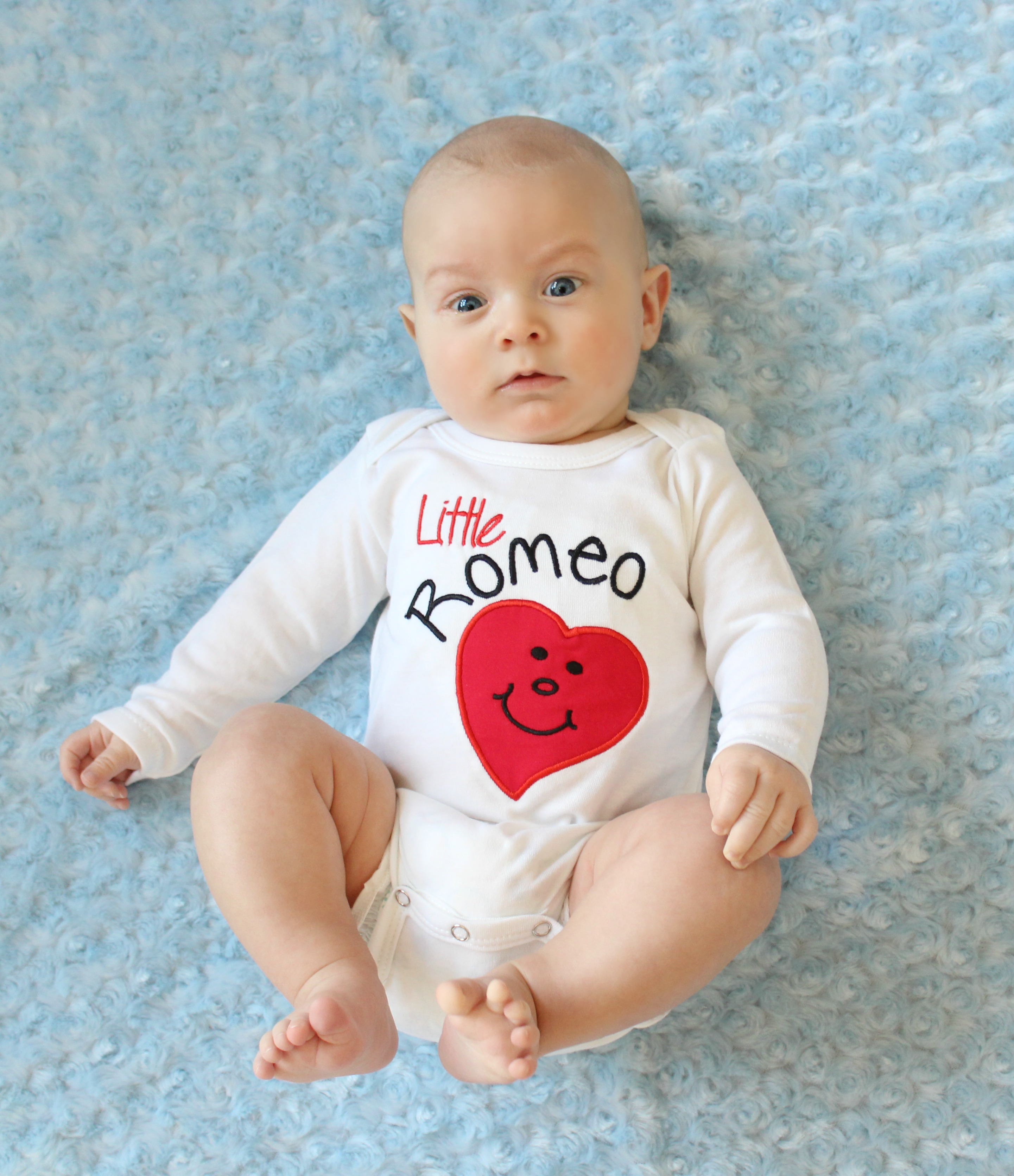 Valentines Day Baby Boy Clothes Tie Bodysuit Sassy Locks