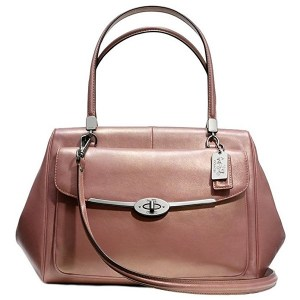 Rose Gold handbags - Coach Madeline Metallic Rose Gold Satchel