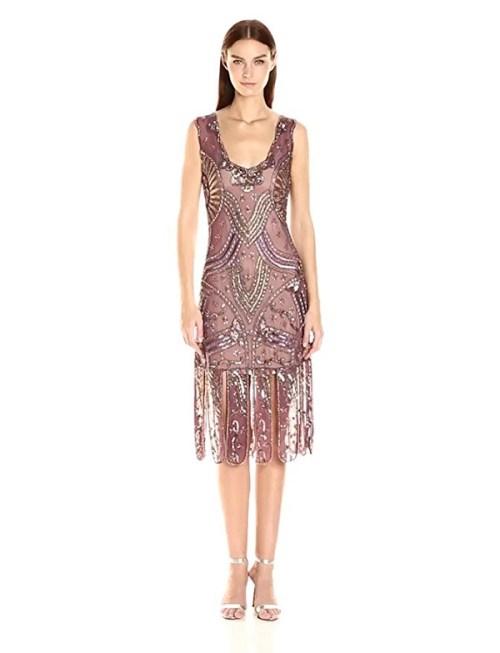 Unique Vintage Women's Sinclair Beaded Flapper Dress