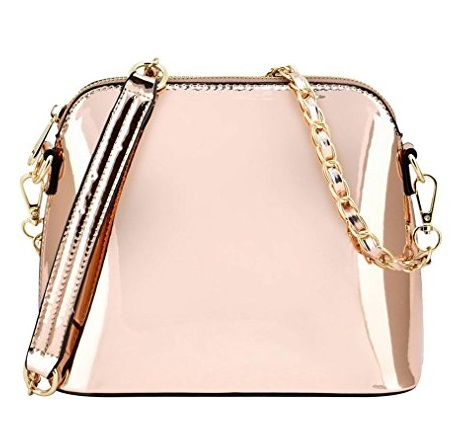 Vegan Rose Gold Metallic Handbag - Made from PETA approved vegan leather