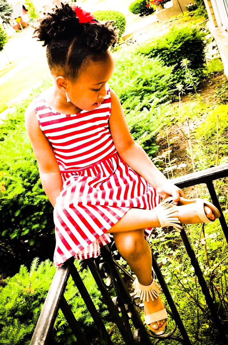 Tiny Tot Tuesdays: Candy-Striped Sundress