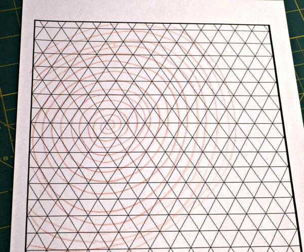 Spiral Triangle Quilt Design