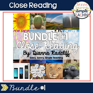 Close Reading Bundle #1