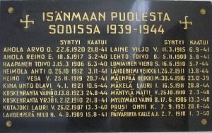 Kaatuneet 1939-1944