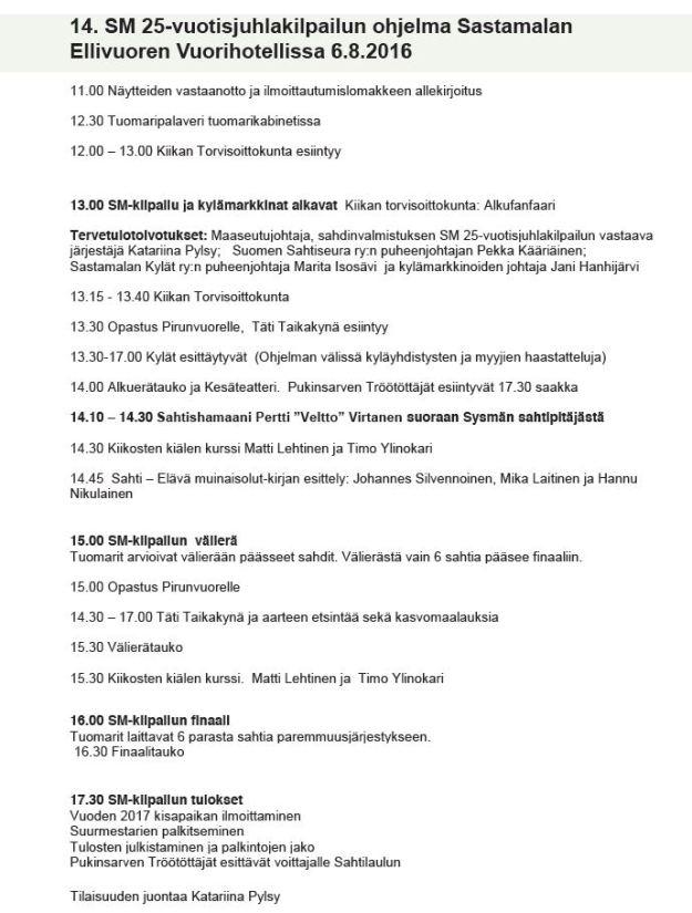 Sahtiohjelma 2016