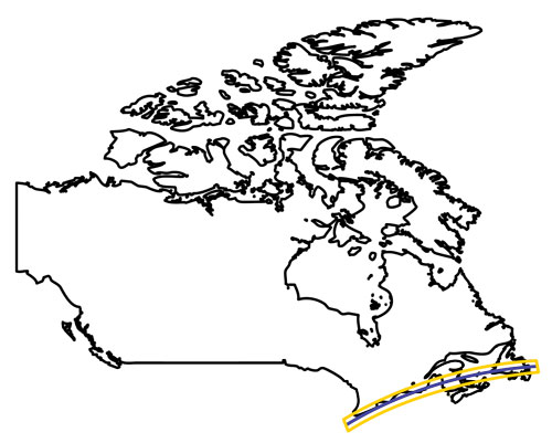 Canada 2024 Total Eclipse Path