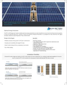 Single Axis Solar Tracker Information