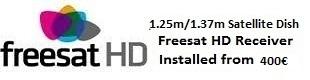 1.25m satellite dish installations for uk tv freesat HD Oliva