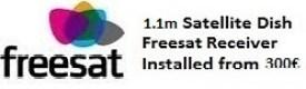 1.1m satellite dish installations for uk tv freesat Oliva