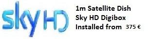 1m satellite dish installations for uk tv sky tv in Oliva