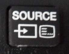 Connect a laptop to TV source button