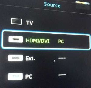 Connect a laptop to TV source