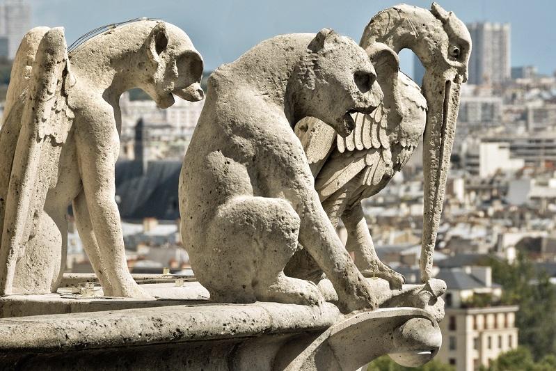 gargoyles grotesques satan