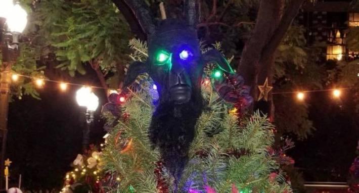 Call For An Uprising Christmas Tree Satan