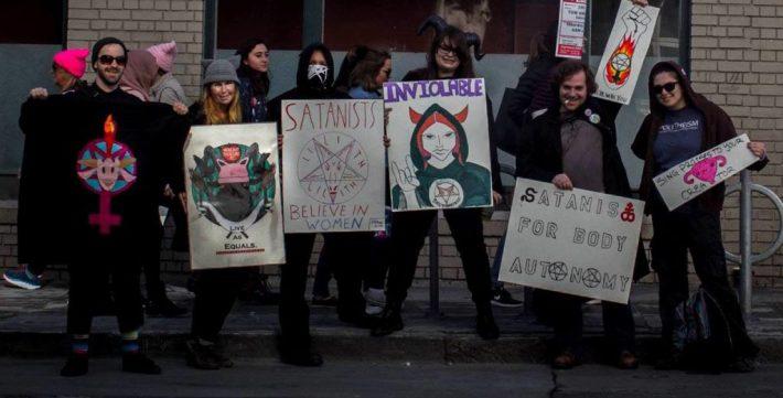 women's march satanism