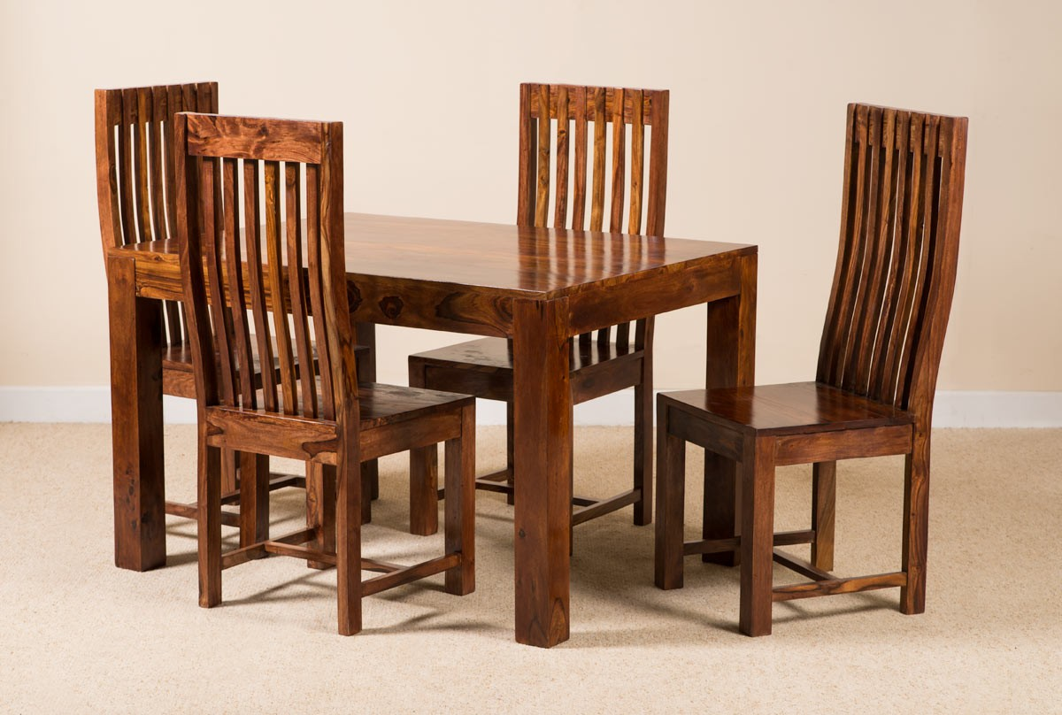 two seater dining table and chairs india sam moore grasshopper chair 7 piece solid wood set casa bella sheesham indian