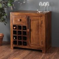 Solid Mango Wood Wine Cabinet | 12 Bottle Wine Rack | Casa ...