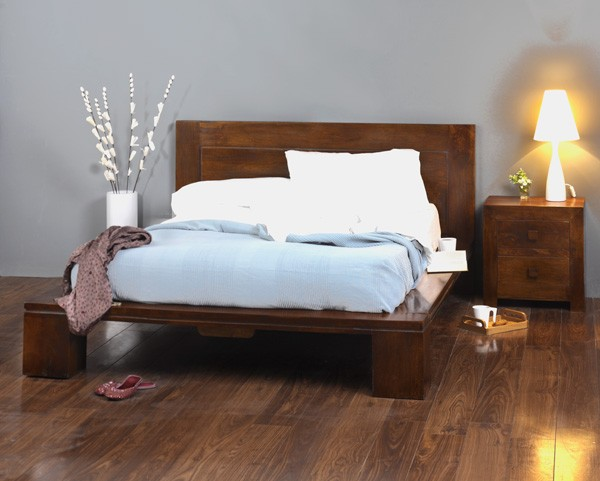 Solid Mango Wood Double Bed Frame  Casa Bella Indian