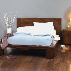 Wood Frame Chair And 1 2 Slipcover Solid Mango King Size Bed | Casa Bella Indian Furniture