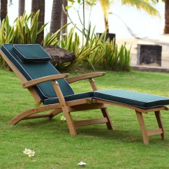 Cushions For Teak Steamer Chairs Discount Lift Sun Lounger Pair With Cushion Reclines In 4
