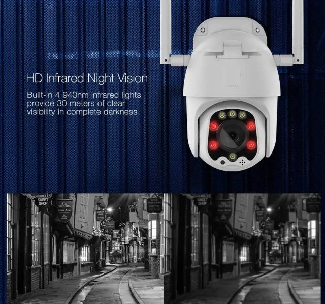 Home Security Camera with Night Vision