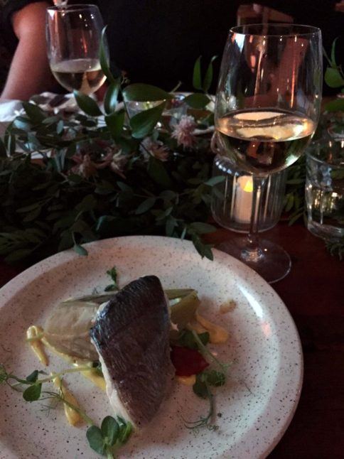 Disappearing Dining Club tasting menu with Côtes du Rhône wines