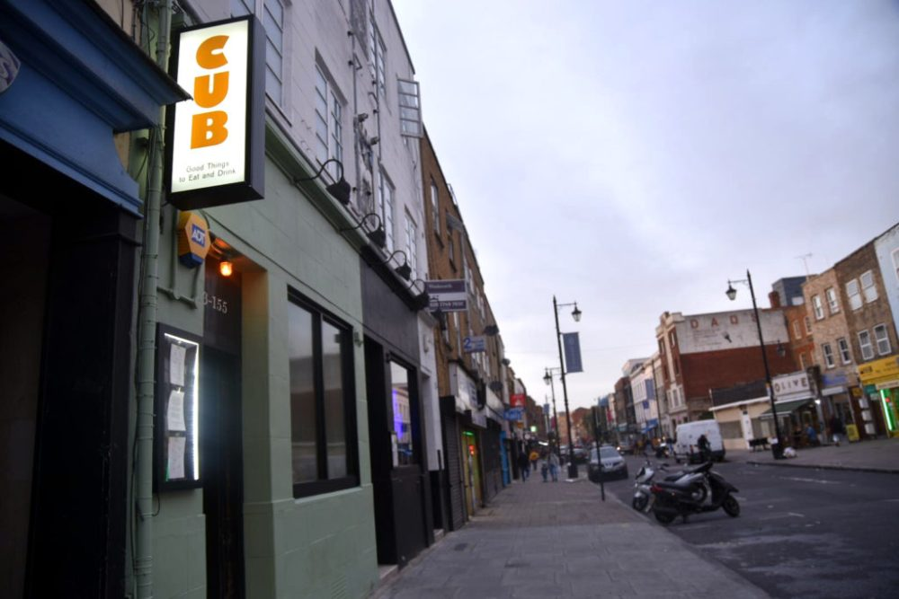 Cub restaurant Hoxton