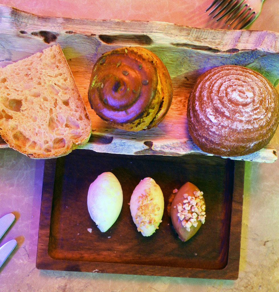 Bread selection Plate
