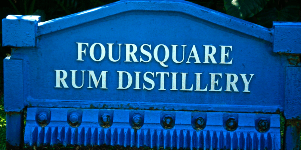 Foursquare distillery sign