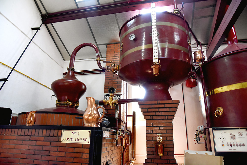 St Denis distillery Cognac still