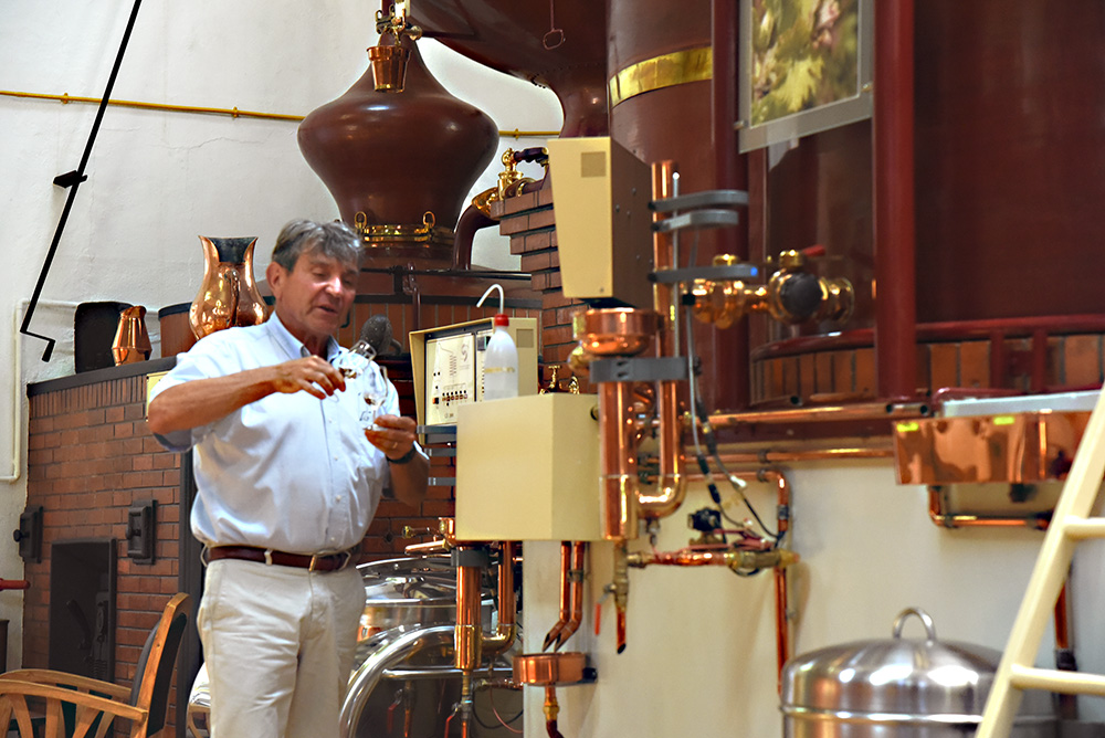 St Denis distillery Cognac Monsieur Lespinard