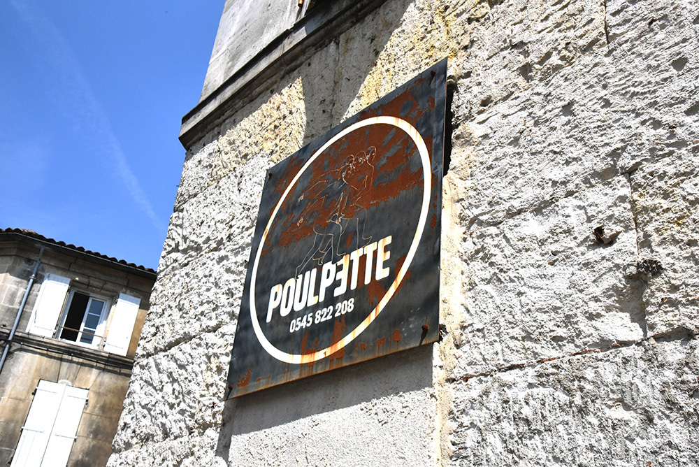 Poulpette in Cognac restaurant exterior sign