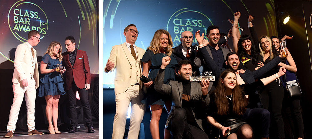 Anna Sebastian and the Artesian team at CLASS Bar Awards 2020 ©Sated Online