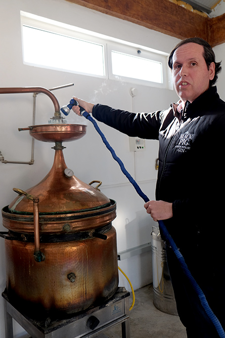 Ricardo Miranda at Black Pig Distillery ©Sated Online