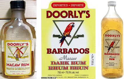 Martin Doorly Rum historic bottles and label.jpg