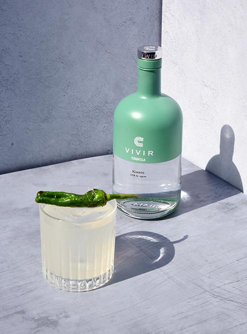 VIVIR Tequila Blanco, Picante Padron cocktail ©SatedOnline