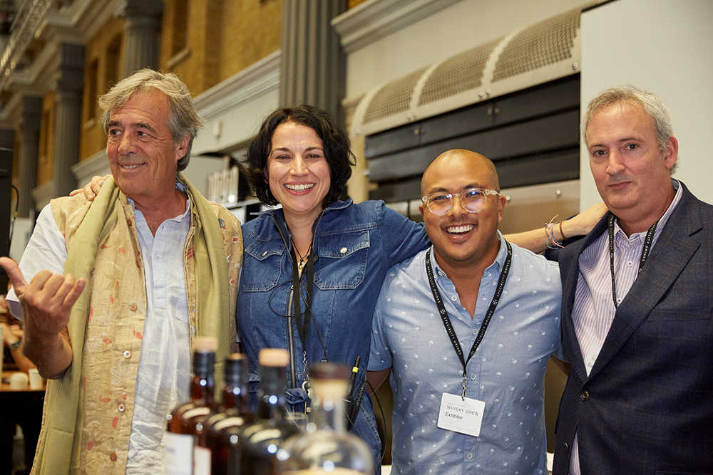 Luca Gargano (Velier), Dawn Davies (The Whisky Exchange), Zan Kong (Worthy Park Estate) and Richard Seale (Foursquare Distillery)