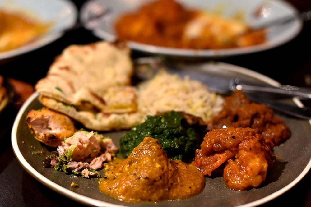 Plate of food Salaam namaste ©SatedOnline