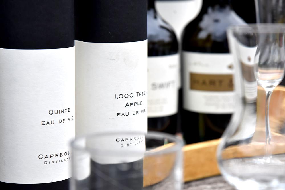 Capreolus Distillery tasting bottles, 1,000 trees apple ©SatedOnline