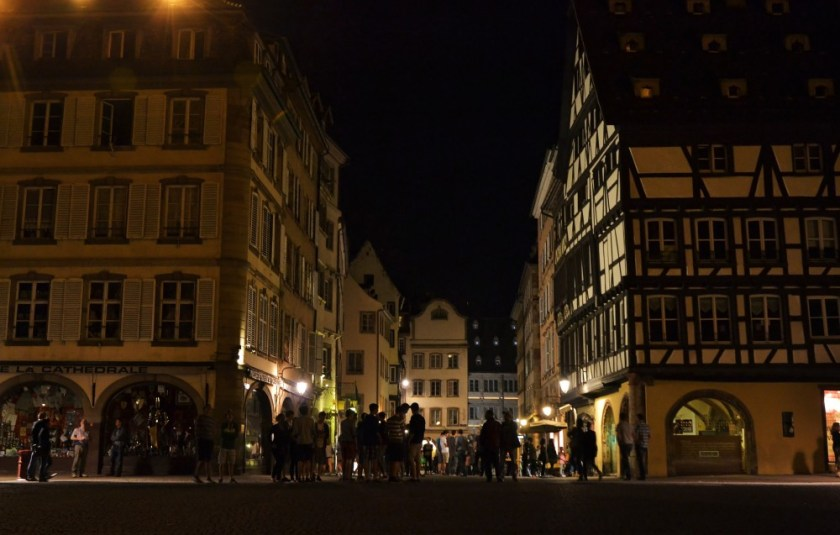 Strasbourg, France, at night