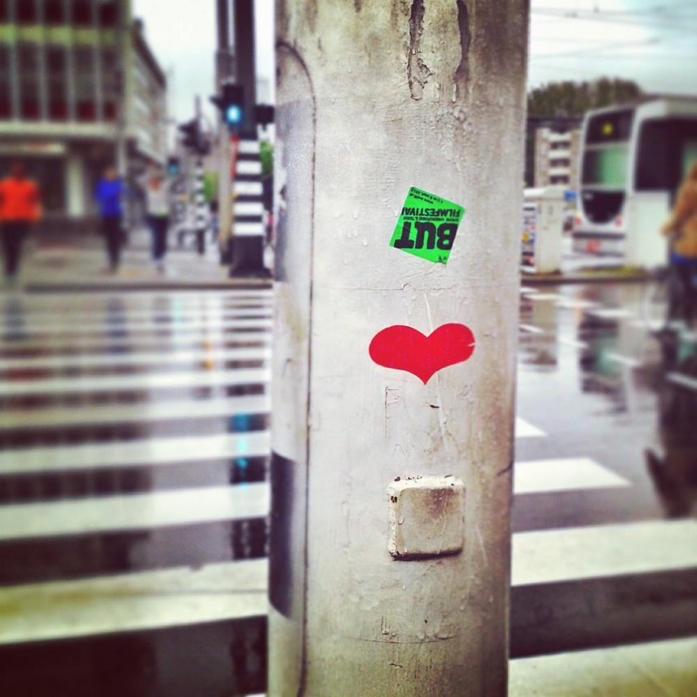 Street art in rainy Rotterdam, The Netherlands