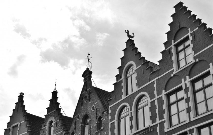 Belgian roofs in Bruges