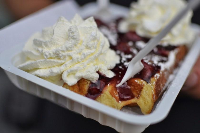 Belgian waffle in Bruges