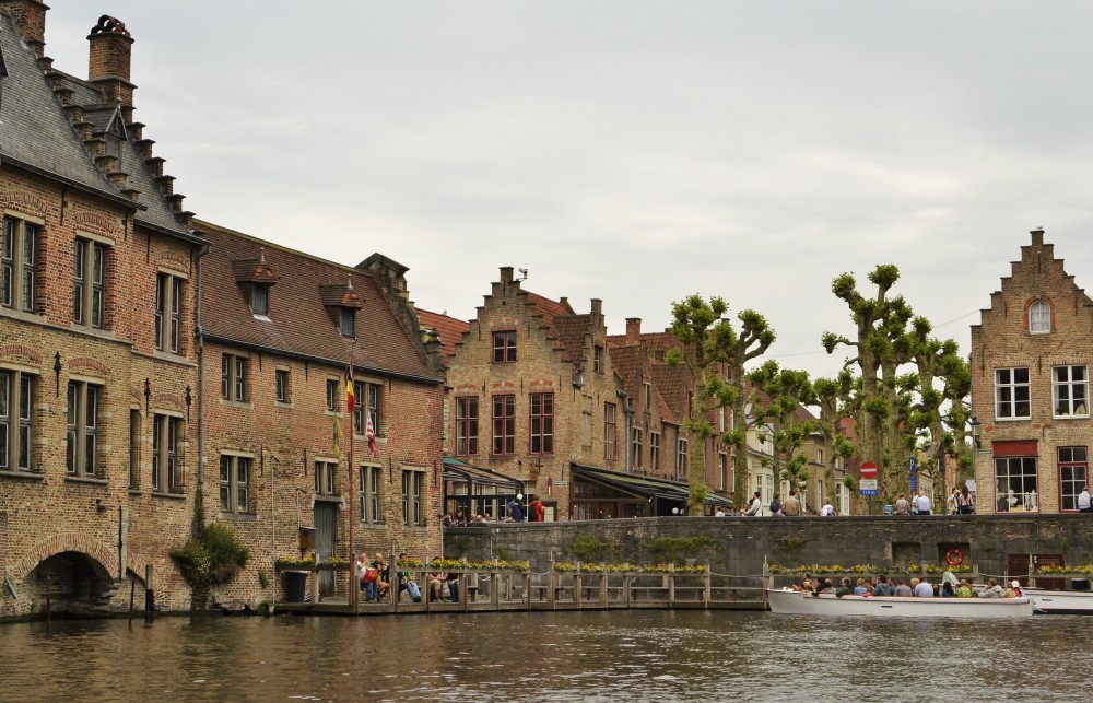 Bruges seen from the water, Belgium
